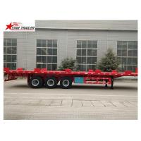 Wholesale 24/32/48/53/50 Foot Semi Truck Flatbed Trailer With Leaf Spring Suspension from china suppliers