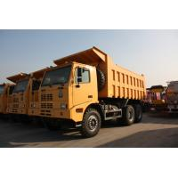 Wholesale Yellow Mining Dump Truck / 10 Wheeler Dump Truck With Steel Cargo Box from china suppliers