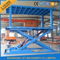 Wholesale Indoor / Outdoor Double Car Parking Hydraulic Platform Lift 1 ton - 20 ton Load Capacity Custom from china suppliers