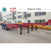 40 Foot Container Trailer , Tri Axle Skeletal Trailer For Cold Chain Transport