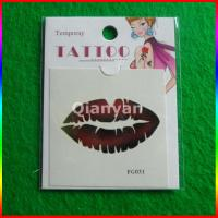 China water transfer temporary tattoo, custom sexy lip tattoo temporary tattoo sticker on sale