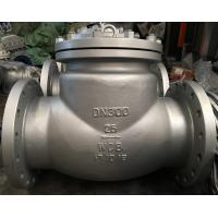 Wholesale ASTM A216WCB Material Swing Check Valve, DN300, PN25, DIN 3356, RF Flanged End from china suppliers