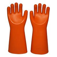 Wholesale Straight Cuff Rubber Latex 35KV Insulating Electric Gloves from china suppliers