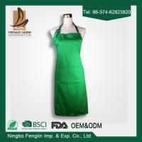 Wholesale Plain Colour Unisex 100% Cotton Chef Cooking Aprons For Women With Pockets from china suppliers
