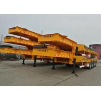 Wholesale 15m 80T Low Bed Semi Trailer with 4 Axles for super Heavy Construction Machine from china suppliers