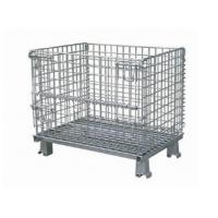 Stainless steel warehouse wire mesh container used for storage