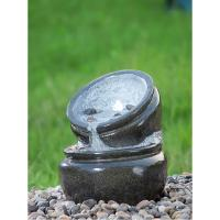 China Traditional Black Marble Cast Stone Fountains Outdoor In Magnesia Material wholesale
