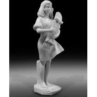 Wholesale Indoor art exhibition marble sculptures beautiful girl stone statue,stone carving supplier from china suppliers