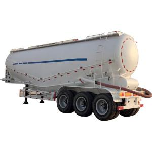 Wholesale White Aluminum Bulk Cement Powder Tank Trailer 3 Axles 30cbm 50cbm fuel tanker semi trailer from china suppliers