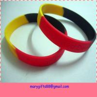 hot selling debossed silicone rubber wristband