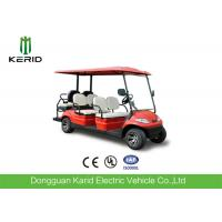 Wholesale Red Color Electric Golf Carts 6 Passenger Vehicle With 4 Front Seats + 2 Rear Seats from china suppliers