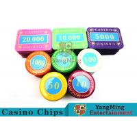 Wholesale Multi - Color Print Crystal Casino Poker Chip Set Tough And Durable from china suppliers