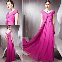 Wholesale evening dresses with sleeves,  rose evening dresses with sleeves from china suppliers