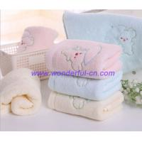 Buy cheap Custom blue and pink and yellow embroidered hand towels from wholesalers