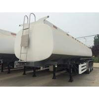 Wholesale 45000 Liters Oil Fuel Tank Trailer , Tri Axle Tanker TrailerCarbon Steel Body from china suppliers