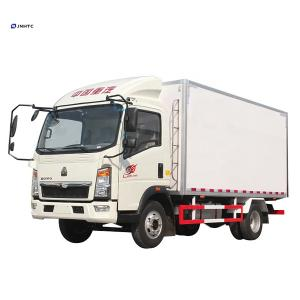Wholesale Mini 4x2 6 wheels 10ton HOWO light refrigerated box truck with carrier refrigerator from china suppliers
