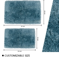 Wholesale Customized Size Water Absorption Bath Mat Pile 3cm Eco Friendly Bathroom Rugs from china suppliers