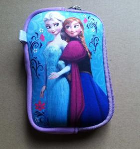 Quality Disney cartoon digital storage camera bag, U disk bag with wristband, mesh for sale