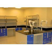 Floor Mounted Black / Grey Modular Laboratory Furniture School Science Tables
