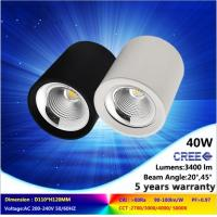 Wholesale 5000K/6000K 40W black or white LED downlight with high quality and lumens in low price from china suppliers