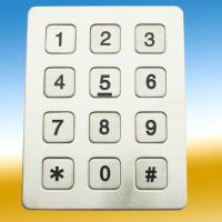 Wholesale Dustyproof Metal Keypad With 10 Numerical Keys For Telephone , Koisk from china suppliers