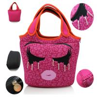 Wholesale China factory unique insulated kids neoprene lunch bag with embroidery decoration from china suppliers