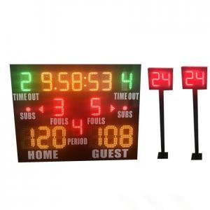 Buy cheap Small Model Standard LED Basketball Scoreboard Plus Shot Clock Long Life from wholesalers