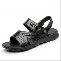 914a3932edf764 Wholesale Flat Handmade Leather Sandals Leisure Black Beach Sandals With  Leather Upper from china suppliers