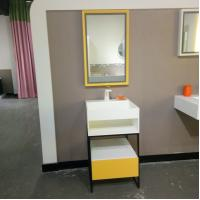 Wholesale Smooth Stone Bathroom Sink Cabinets Wood And Iron Baking from china suppliers