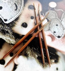 Double Head Lip Liner Brushes , Cosmetic Eyeliner Brush Bamboo Handle