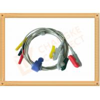 0.6m ECG Patient Cable Lead Wires Copper Conductor Material , Din Style