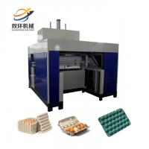 China 30 holes egg tray machine line / paper fruit tray making machine / high speed automatic egg tray machine on sale