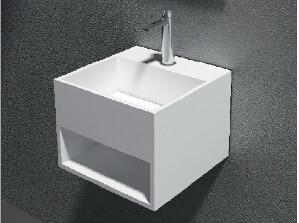Wholesale Artificial Stone Wall Hung Wash Hand Basin For Bathroom Vanity Top from china suppliers