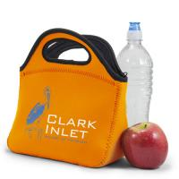 Wholesale Fashionable Neoprene Lunch Bag tote For office With bottle holder / silk screen Logo from china suppliers