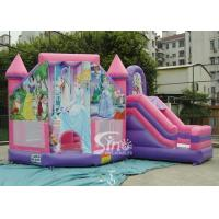 Wholesale 6x5m Commercial Kids Party Princess Inflatable Bouncy Castles With Slide For Outdoor From Sino Inflatable from china suppliers