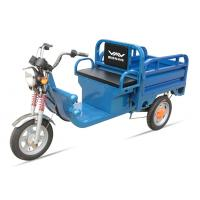 China 580W 48V / 32Ah Adult Electric Tricycles Blue Electric Cargo Tricycle Easily Loading on sale