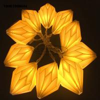 Wholesale Origami White Paper lantern String Lights 15cm window Party Decoration from china suppliers