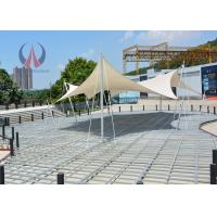 Quality Flat Stressed Shape Tensioned Membrane Structures Simple Performance Pavilion for sale