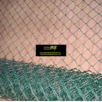 Green vinyl coated chain link fencing chainlink fence