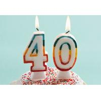 Wholesale Glitter Number Birthday Candles , 40th Anniversary Cake Candles Food Grade from china suppliers