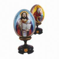 Wholesale Wooden Craft Egg with Hand Painted, Various Designs are Available from china suppliers