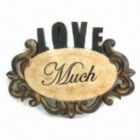 Wholesale Pierced Wall Plaques with Wording in Antique Rustic Finish from china suppliers