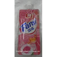 Wholesale fruit shape packaging pouch reseable stand up pouch packaging bags with spout juice drink plastic spout pouch from china suppliers