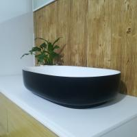 Wholesale Europe Modern Oval Wash Basin Artificial Stone Bathroom Sink / Counter Top Wash Basin from china suppliers