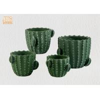 Wholesale Green Color Cactus Flower Pots Homewares Decorative Items Succulents Plant Pots Cement Table Vases from china suppliers