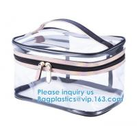 Buy cheap PVC Mini Plastic Cosmetic Bags , Cosmetic Tote Bags Printed Promotional Makeup from wholesalers