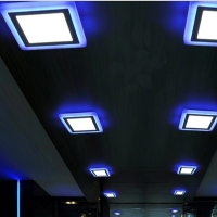Wholesale Bars and KTV use Blue/Green/Pink Three Gears Two Colors Down Light Square Outlook from china suppliers