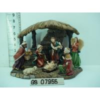 China Wood House Polyresin Religious Figurines Handmade For Nativity Set on sale