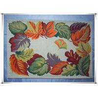 China Leaves design jacquard placemat tapestry decorative table linen placemats on sale
