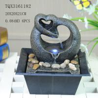 Wholesale Free Standing Polyresin Water Fountain Heart Shaped Battery Powered For Home Decor from china suppliers